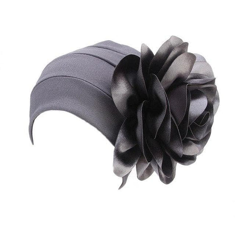 3D Big Petal/Flower Turban Head Cover (Cap) - African Clothing from CUMO LONDON