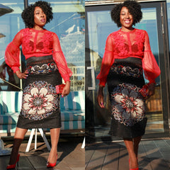 African Print Fitted Pencil Skirt - ATMKollectionz