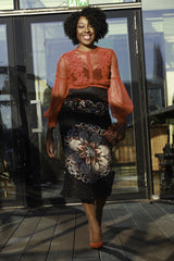 African Print Fitted Pencil Skirt - African Clothing from CUMO LONDON