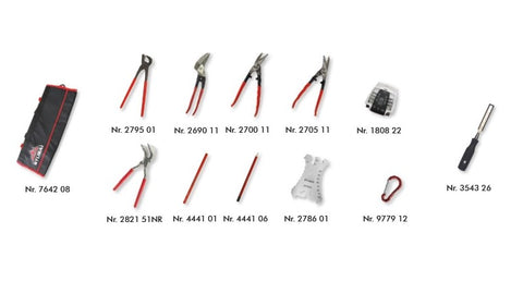 N° S2839 12 STUBAI Tool Kit 12 Part in Roll Bag