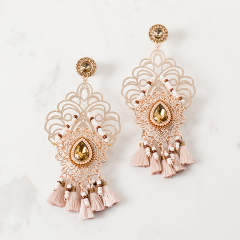 'GOA' earrings | Rose Gold & Blush