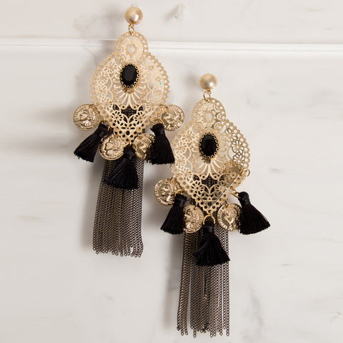 'SOUQ' earrings | Gold & Black