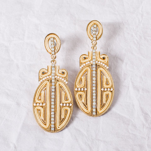 'SHANGHAI' Earrings | Ivory