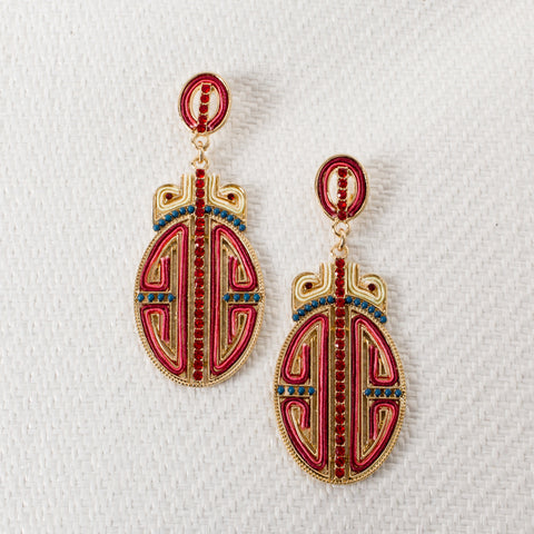 'SHANGHAI' Earrings | Red