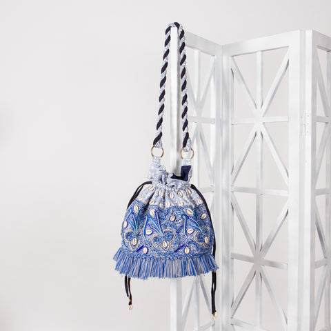 'BYRON' Drawstring Bucket Bag