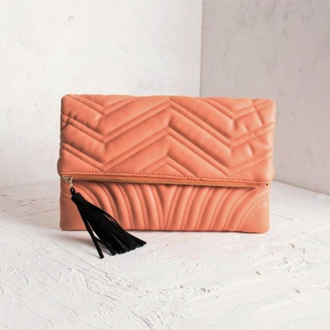 'PARIS' Butter-soft Quilted Clutch