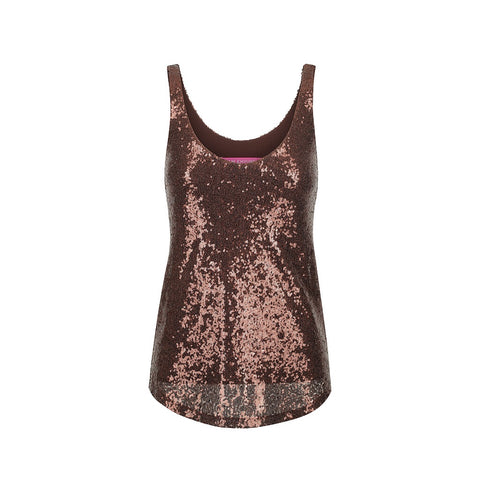 Ella Sequinned Cami - rose gold 10
