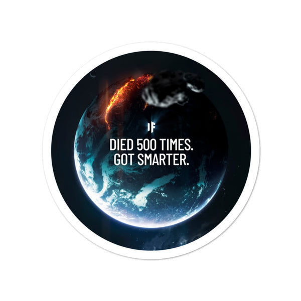 Died 500 Times. 5 Million Subs Celebration Stickers (Limited Edition)
