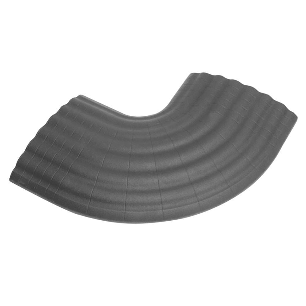 Office C GREY -90° Curve grey for 85160 Cable Duct 4-channel
