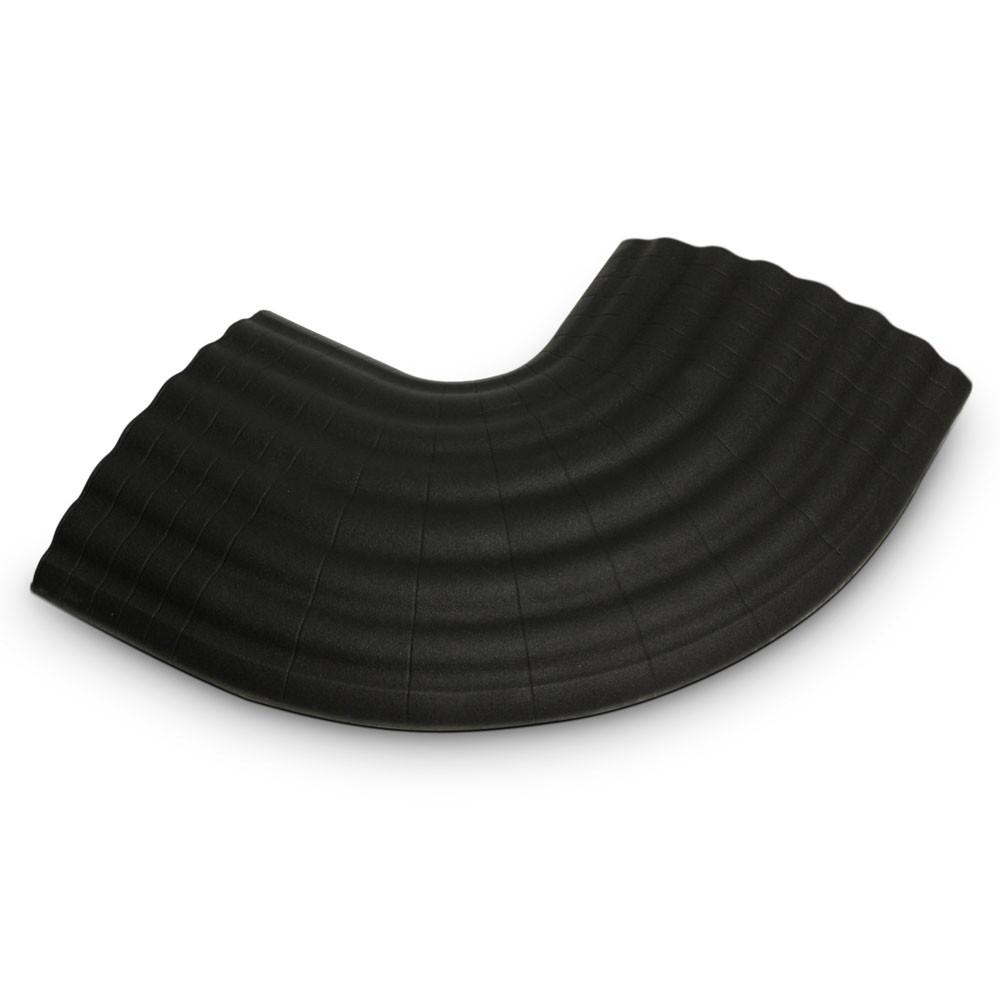 Office C - 90° Curve black for 85160 Cable Duct 4-channel
