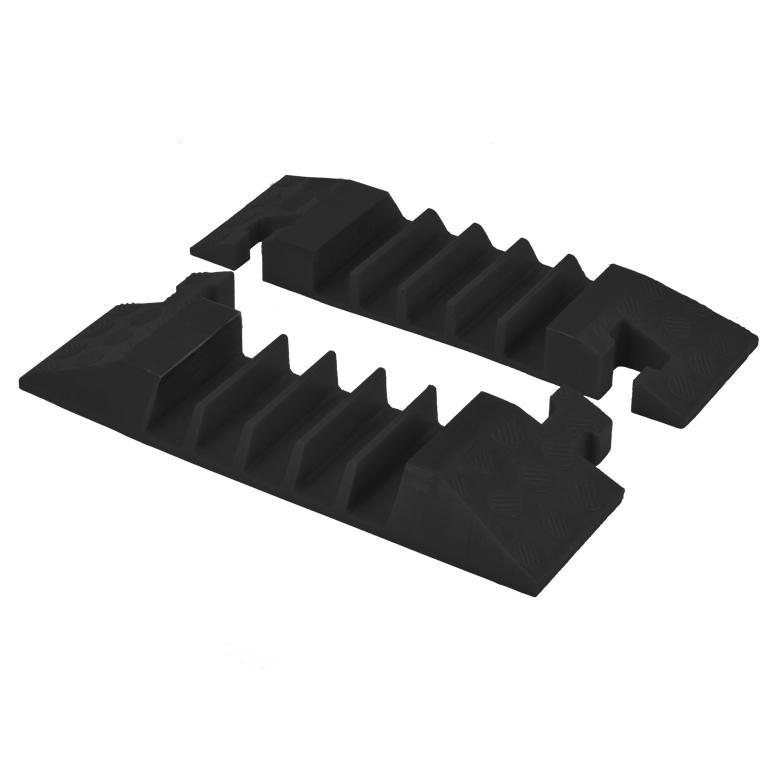 5-Channel 35mm Back Line Cable Guard End Pieces