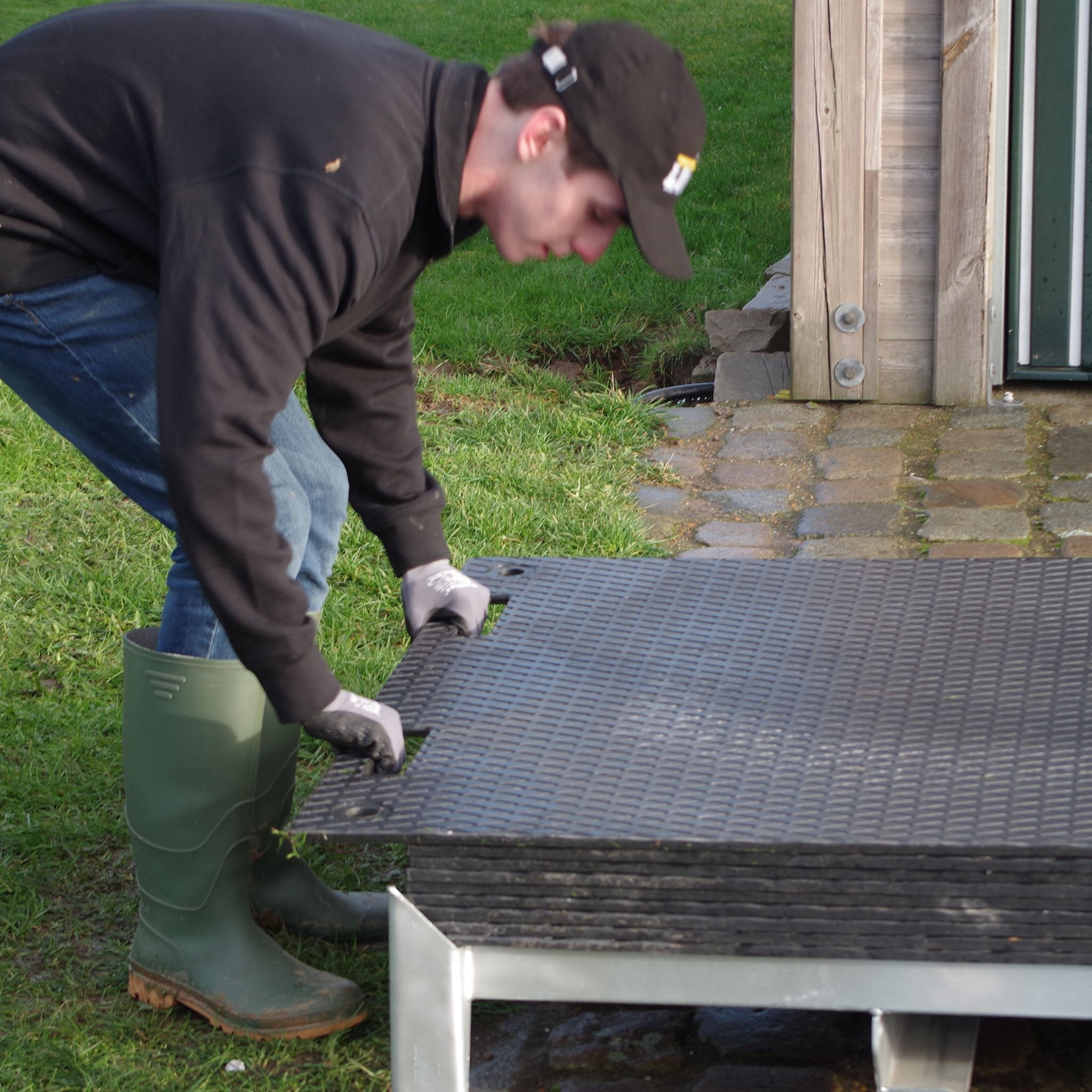 Lodax Ground Protection Flooring Storage Box - Resilient Temporary Flooring Solution