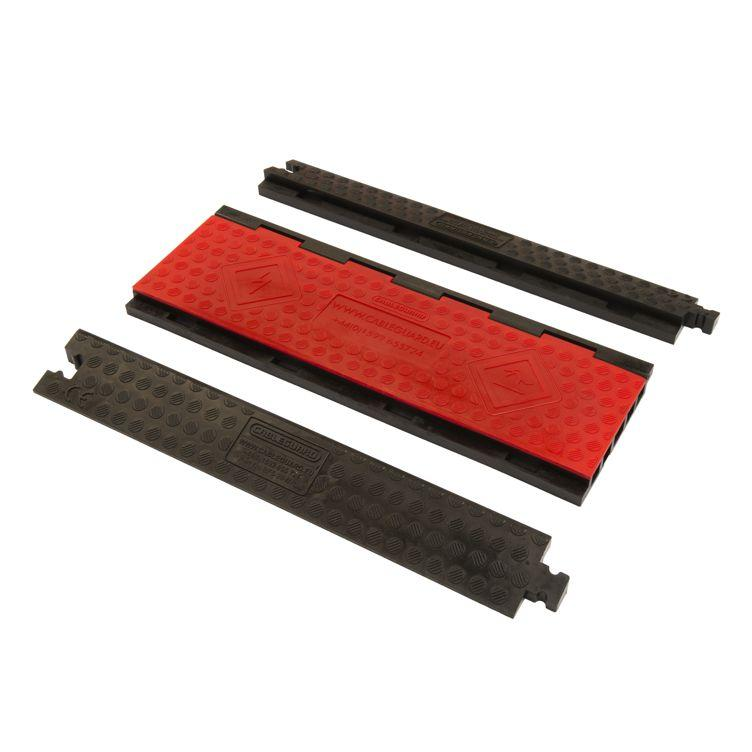 Complete Red Floor Modular 5-Channel Cable Guard System