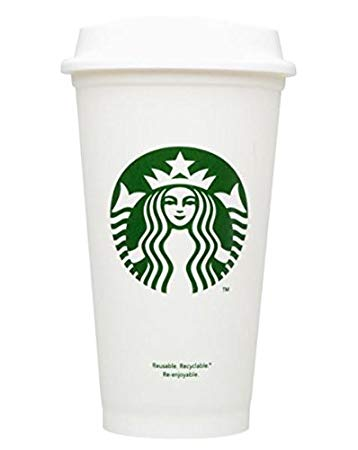 Customize Your Cup with a Fun Decal ON a Reusable Starbucks 16 oz. Hot/Cold Cup (Cup & Lid Included)
