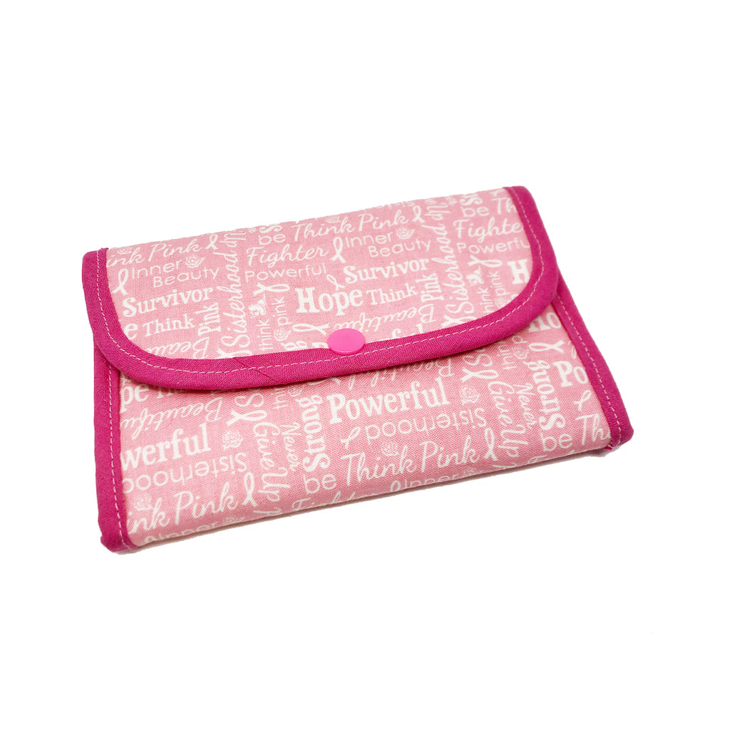 "NEW SALE! ""Pink Power"" Small Tri-Fold Cosmetic/Accessory Bag"