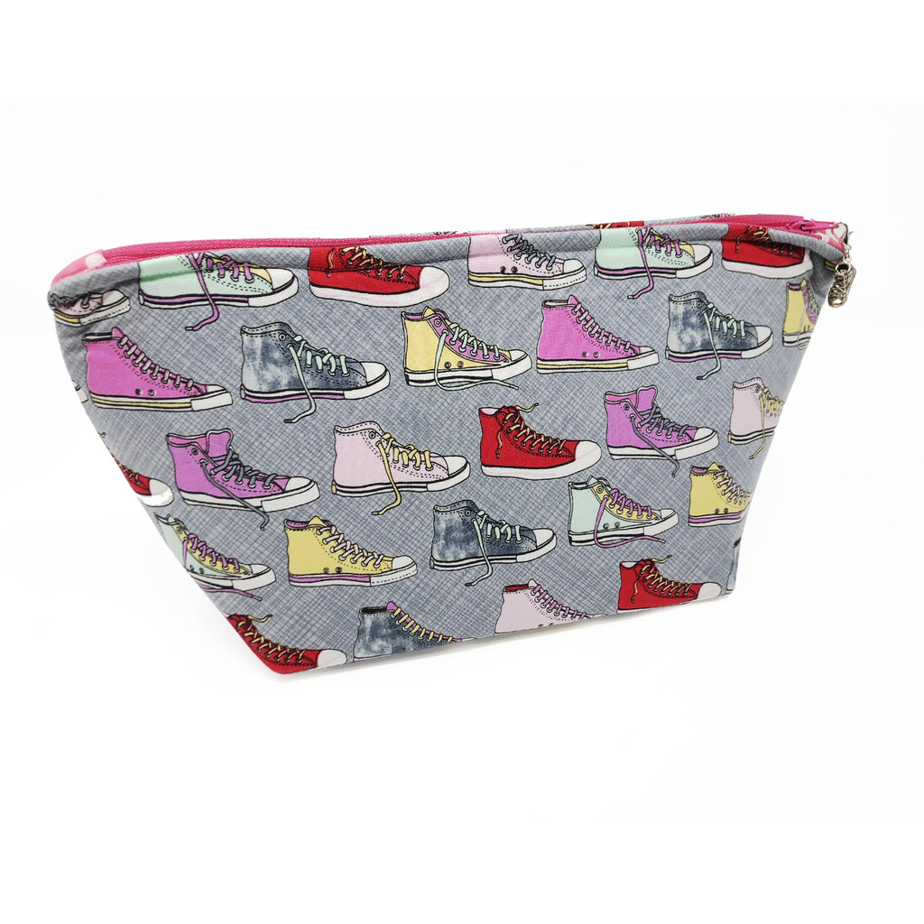 """Hip High-tops"" Wedge Cosmetic/Toiletry/Accessory Bag"