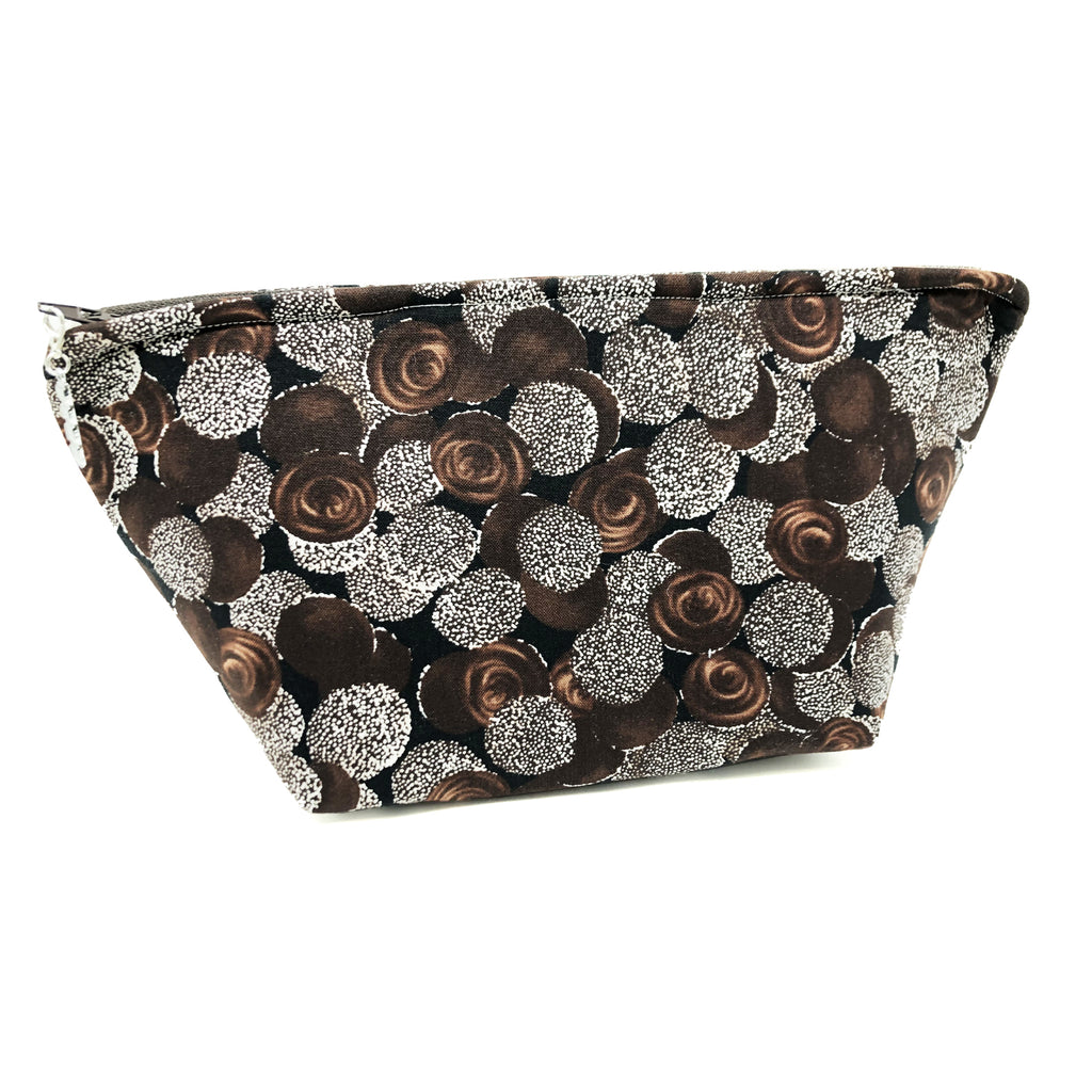 "SALE ""Chocolate Nonpareils"" Wedge Cosmetic/Toiletry/Accessory Bag"