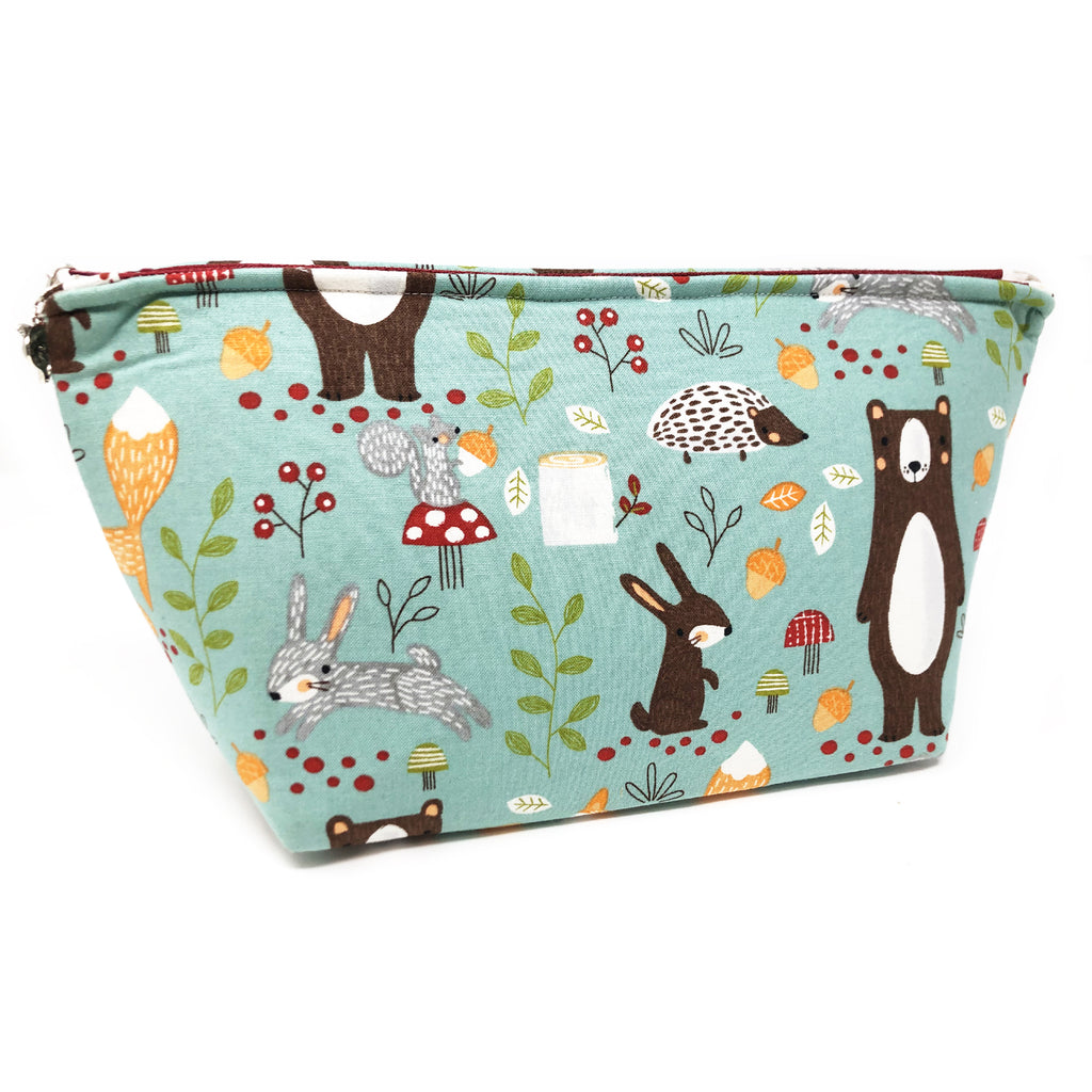 "Oops! My Bad! CLEARANCE  ""Woodland Friends"" Wedge Cosmetic/Accessory Bag"