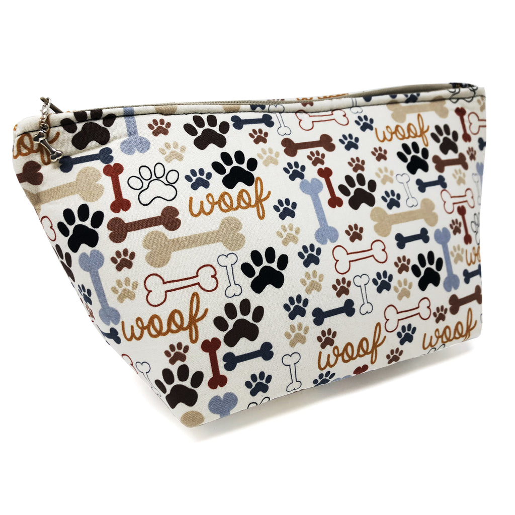 "Oops! My Bad! CLEARANCE ""Woof"" Wedge Cosmetic/Accessory Bag"