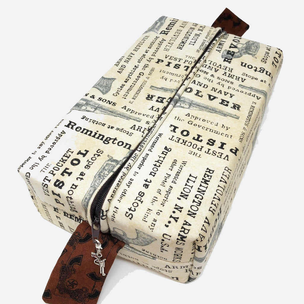 "CLEARANCE ""Vintage Firearms"" Brick Cosmetic/Toiletry/Accessory Bag"