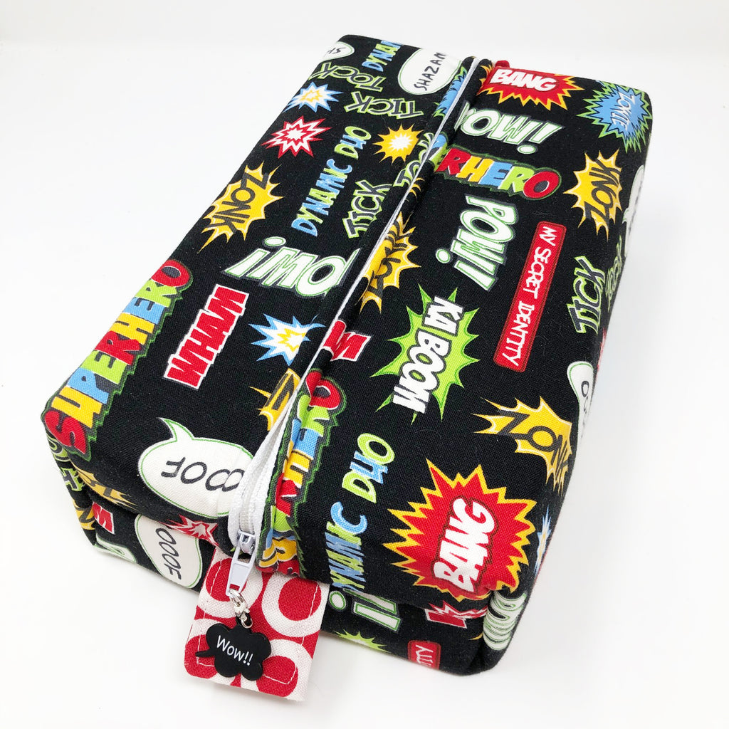 "CLEARANCE ""Superhero"" Brick Cosmetic/Toiletry/Accessory Bag"