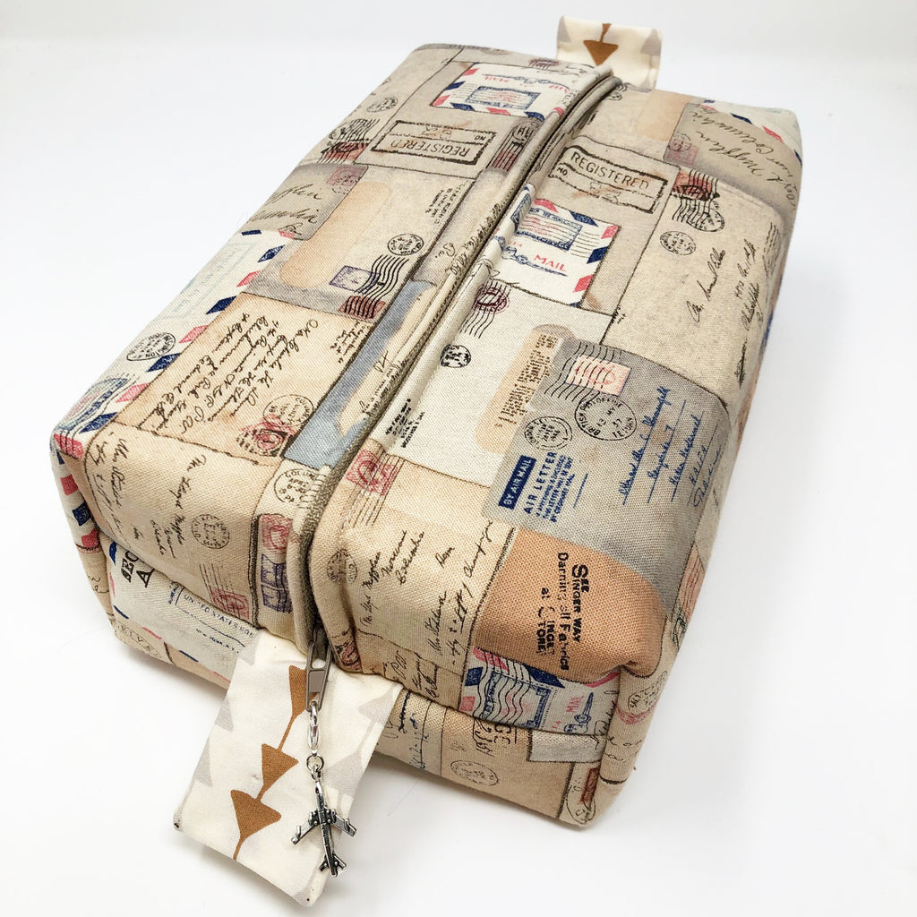 "CLEARANCE ""Par Avion"" Brick Cosmetic/Toiletry/Accessory Bag"