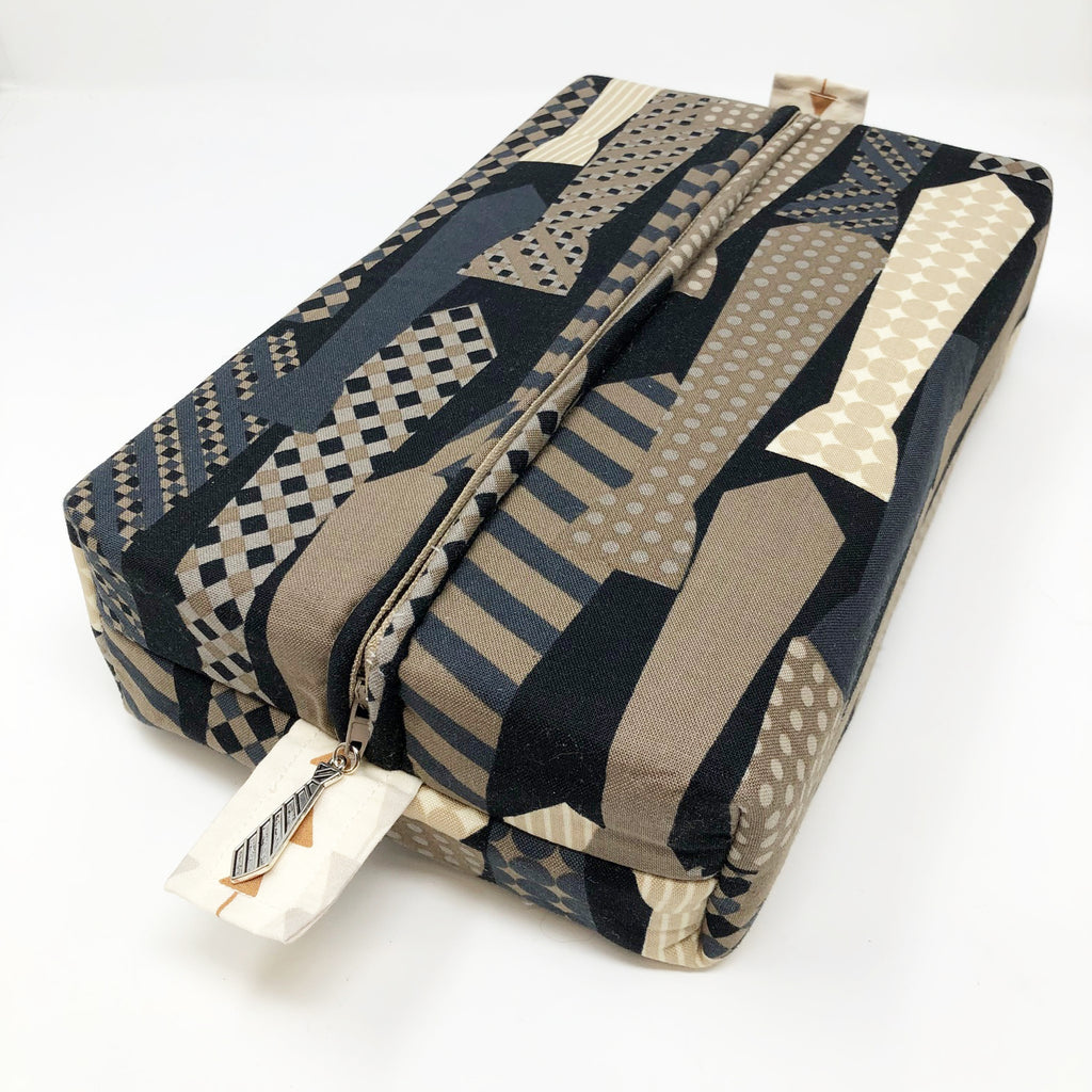 "CLEARANCE ""Neckties"" Brick Cosmetic/Toiletry/Accessory Bag"
