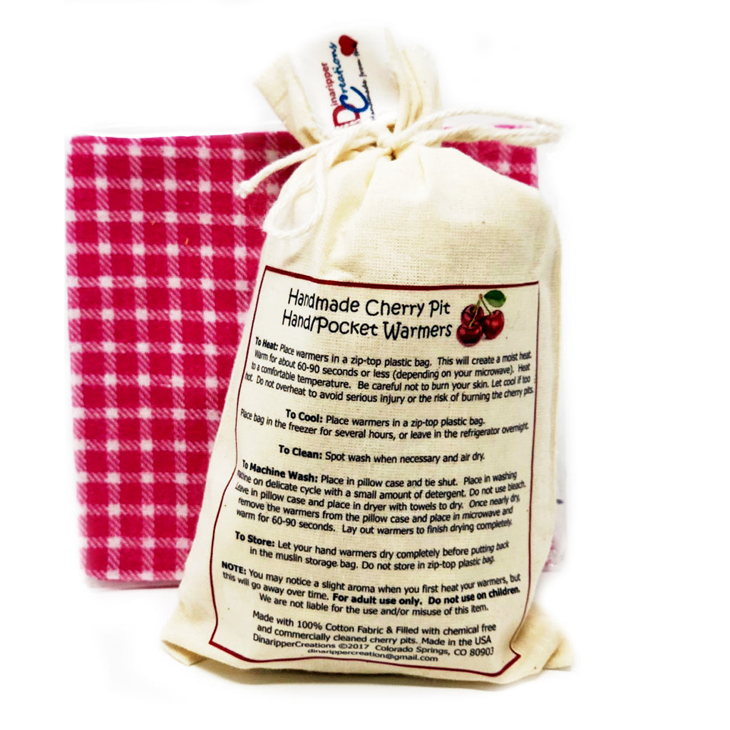 Handmade Cherry Pit Hand Warmers with FREE COVERS!