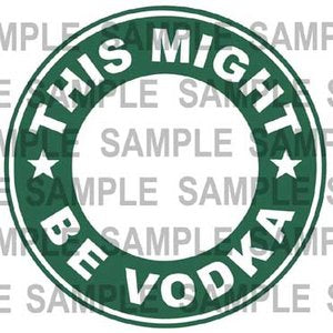 Fun Decal ON a Reusable Starbucks 16 oz. Hot/Cold Cup (Cup & Lid Included)