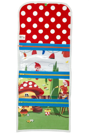 "SALE ""Gnome Place Like Home"" Large Tri-Fold Cosmetic/Accessory Bag"