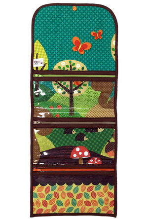 """Woodland Cuties"" Tri-Fold Cosmetic/Accessory Bag"