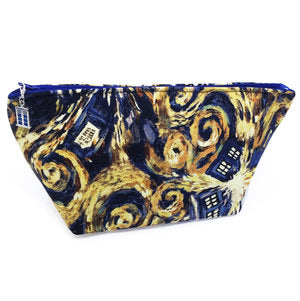 "SALE ""Starry Night Police Box"" Structured Wedge Cosmetic/Accessory Bag"