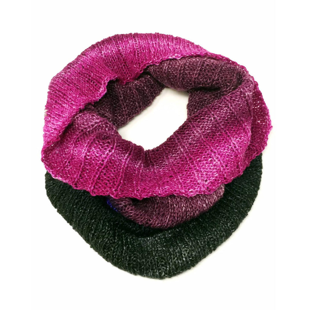 """Bold Jewels"" Hand-knit Cowl"