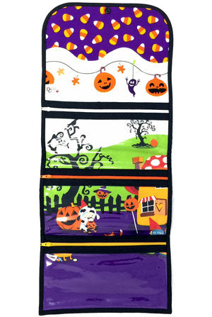 "CLEARANCE! ""Gnome for Halloween"" Large Tri-Fold Cosmetic/Accessory Bag"