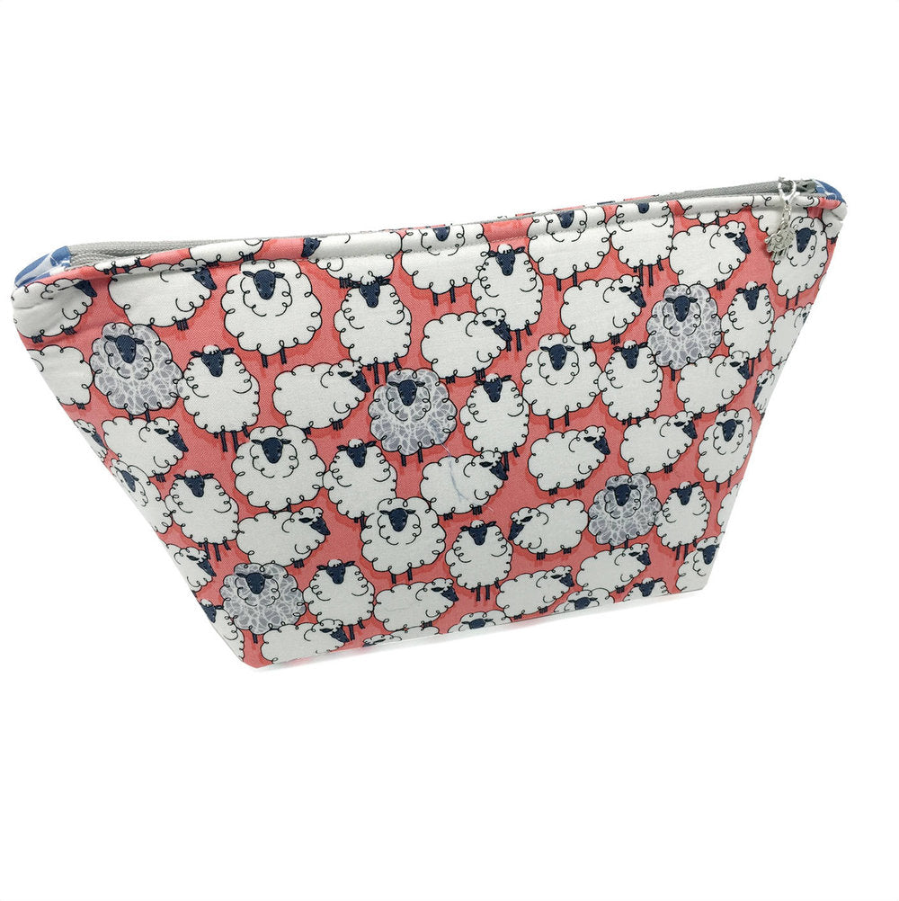 "SALE ""One of the Flock"" Wedge Cosmetic/Accessory Bag"