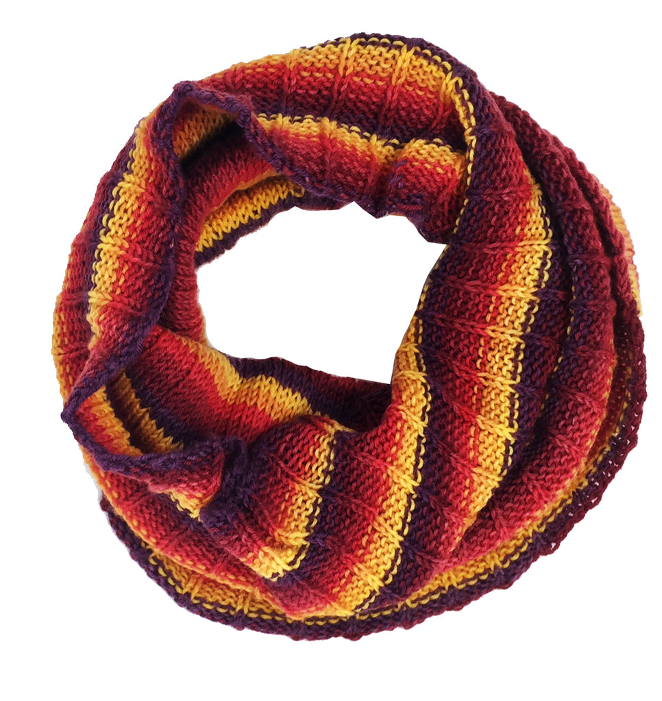 "SALE ""Autumn Hues"" Hand-knit Cowl"