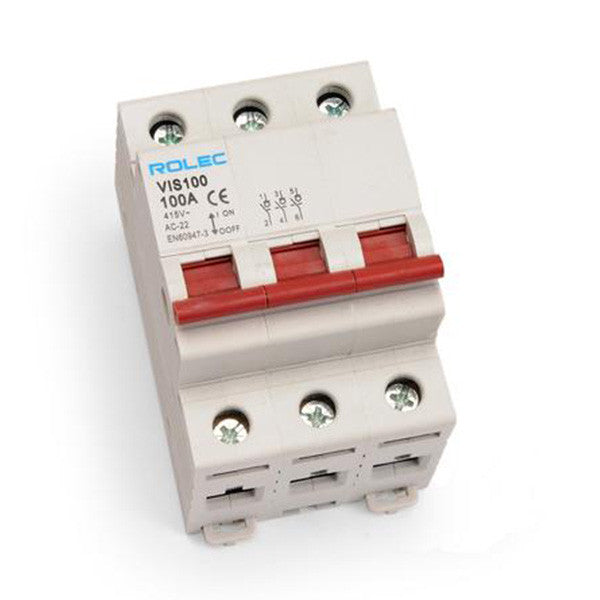 100amp 3 pole isolator