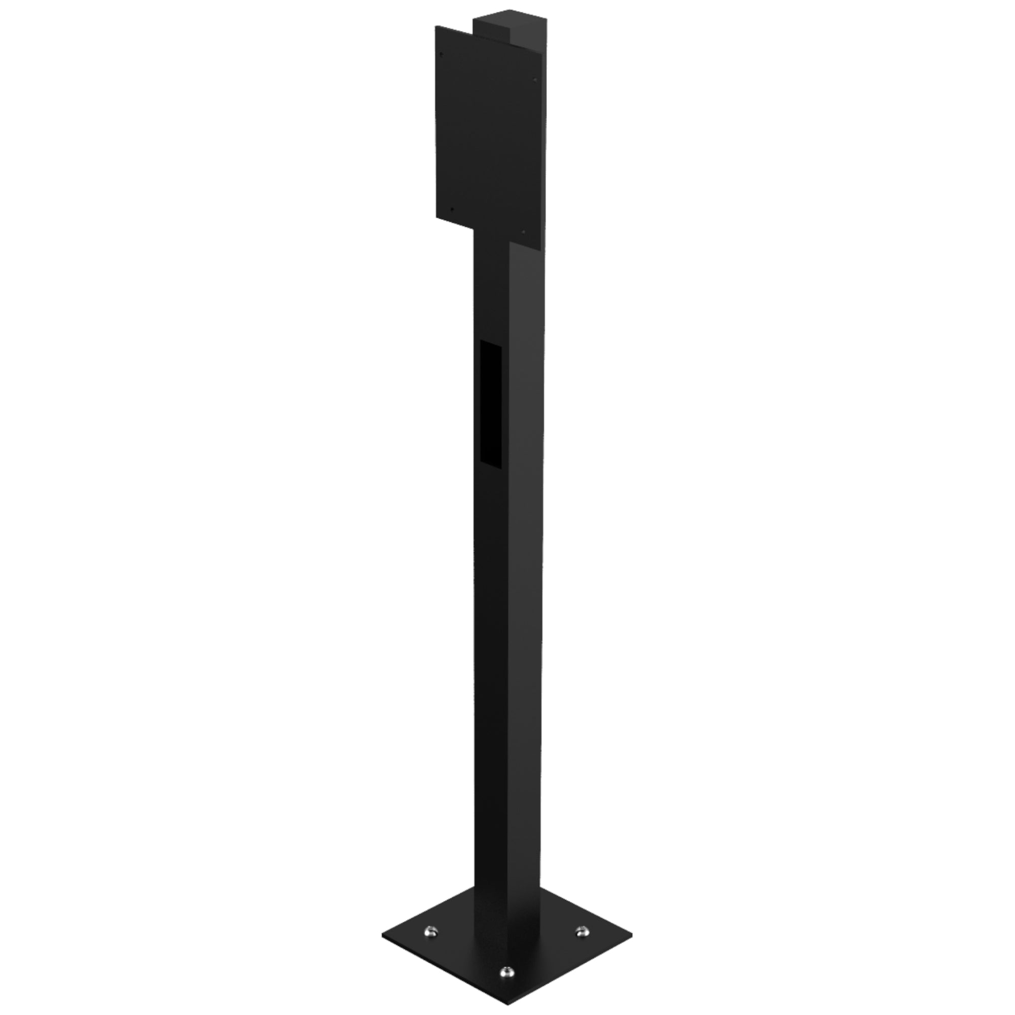 1000mm 1 way QubEV Post Power Coated Black