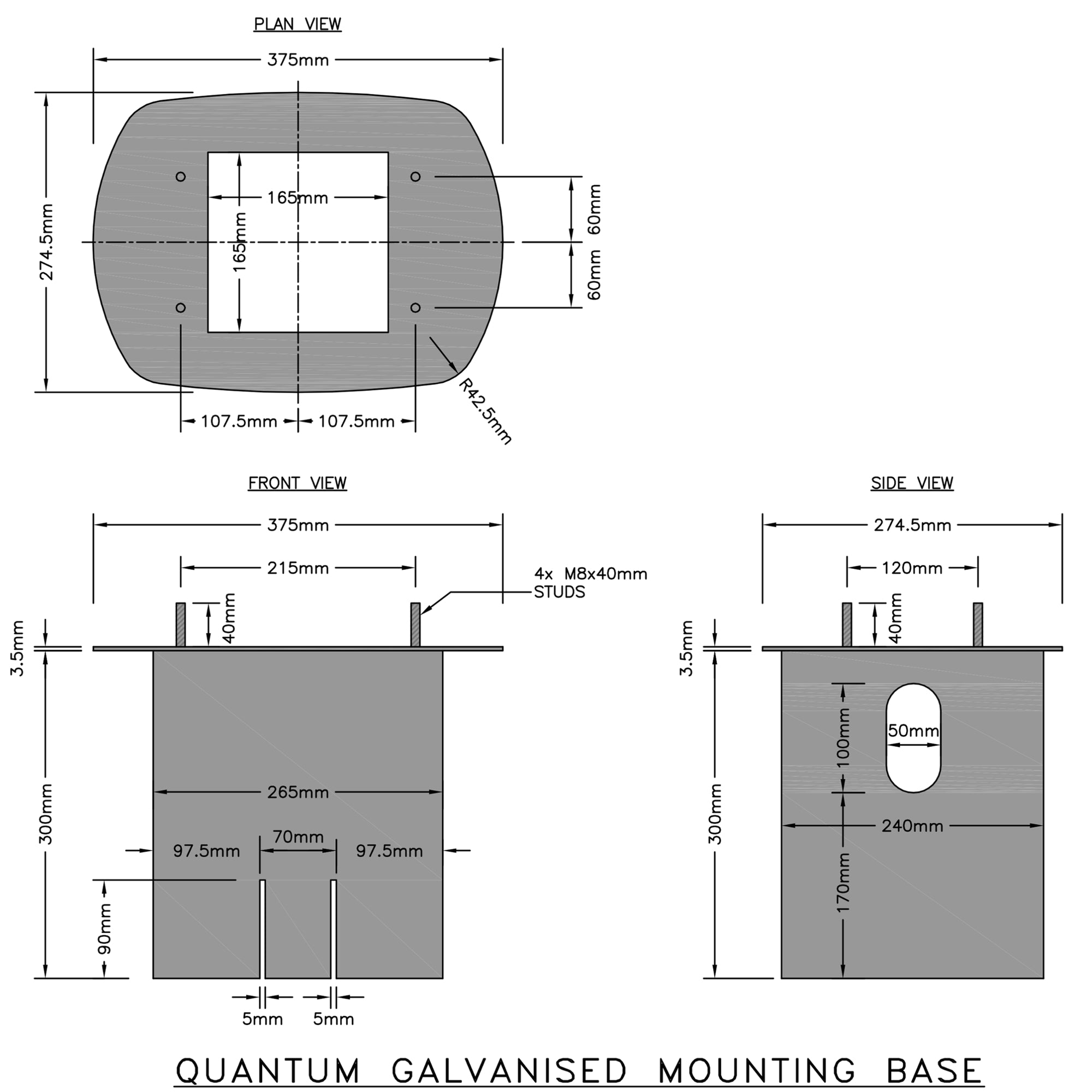 Ground Mounting Base for Quantum