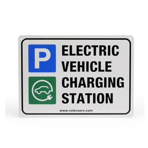 EV Standard aluminium EV A5 landscape parking sign