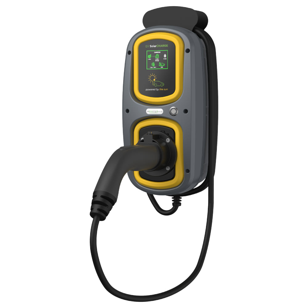 WallPod Solar: EV Charging Unit | Type 2 Tethered | 5 Meter | 16/32 Amp(3.6/7.2kW) | IP65 |