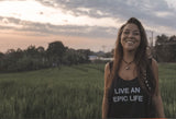 """Live An Epic Life"" Cropped Tank"