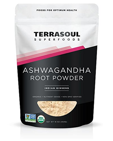 Terrasoul Superfoods Ashwagandha Root Powder (Organic), 16 ounces