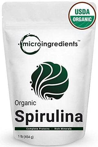 Micro Ingredients Pure Organic Spirulina Powder, (1 lb)