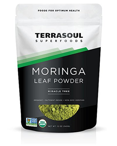 Terrasoul Superfoods Organic Moringa Leaf Powder, 12 Ounces