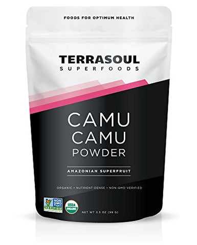 Terrasoul Superfoods Camu Camu Powder (Organic), 3.5 Ounce