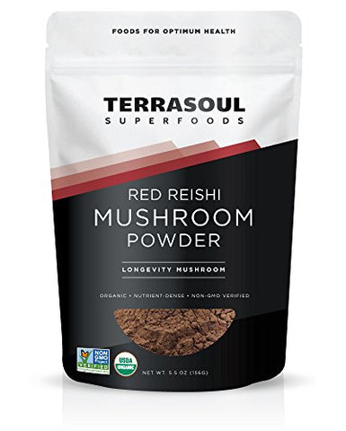 Terrasoul Superfoods Organic Reishi Mushroom Powder (4:1 Extract), 5.5-ounce