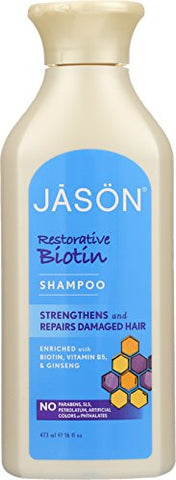 Jason Pure Natural Shampoo, Restorative Biotin (16oz)