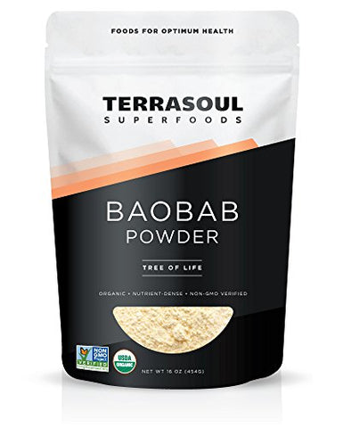 Terrasoul Superfoods Organic Baobab Fruit Powder, 12 Ounces