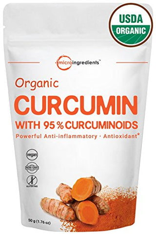 Organic Pure Curcumin 95% (Natural Turmeric Extract) Powder